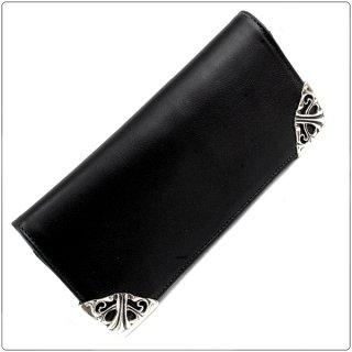 クロムハーツ 財布(Chrome Hearts)ロング シングルフォールド チップス ブラック ライトレザー【クロム・ハーツ】【クロムハーツ財布】【名古屋】