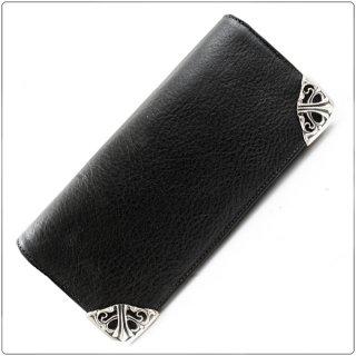 クロムハーツ 財布(Chrome Hearts)ロング シングルフォールド チップス 3ビル ブラック ヘビーレザー【クロム・ハーツ】【クロムハーツ財布】【名古屋】