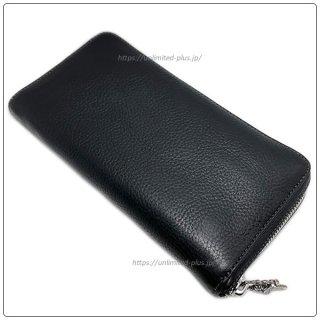 クロムハーツ 財布(Chrome Hearts)REC F ZIP#2 プレーン ブラック ヘビーレザー(クロム・ハーツ)