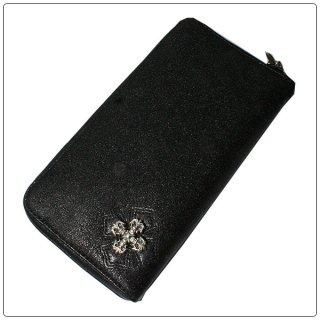 クロムハーツ 財布(Chrome Hearts)REC F ZIP#2 フィリグリープラス メタリックブラックレザー【クロム・ハーツ】【クロムハーツ財布】【名古屋】