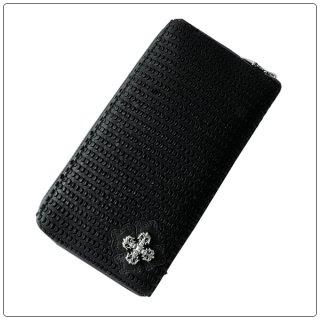 クロムハーツ 財布(Chrome Hearts)REC F ZIP#2 フィリグリープラス エンボスド ドット ストライプ ブラック グレー【クロム・ハーツ】【クロムハーツ財布】【名古屋】