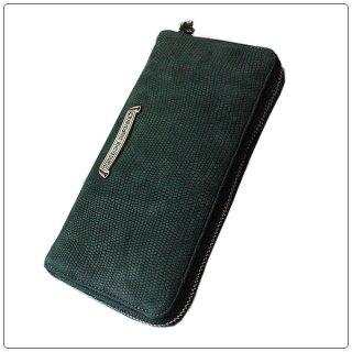 クロムハーツ 財布(Chrome Hearts)REC F ZIP#2 グリーン リザード リミテッドレザー【クロム・ハーツ】【クロムハーツ財布】【名古屋】