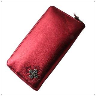 クロムハーツ 財布(Chrome Hearts)REC F ZIP#2 フィリグリープラス メタリックレッド レザー【クロム・ハーツ】【クロムハーツ財布】【名古屋】