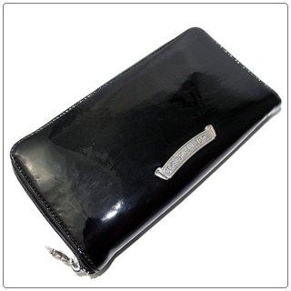 クロムハーツ 財布(Chrome Hearts)REC F ZIP #2 プレーン ブラック パテントレザー【クロム・ハーツ】【クロムハーツ財布】【名古屋】
