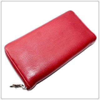 クロムハーツ 財布(Chrome Hearts)REC F ZIP#2 プレーン レッド ミディアムレザー【クロム・ハーツ】【クロムハーツ財布】【名古屋】