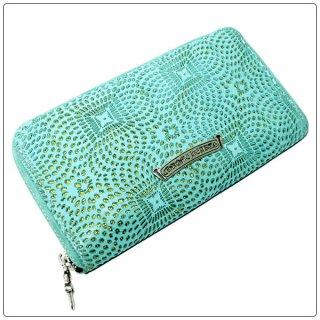 クロムハーツ 財布(Chrome Hearts)REC F ZIP #2 プレーン ターコイズ レーザード レザー【クロム・ハーツ】【クロムハーツ財布】【名古屋】