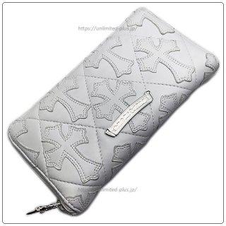 クロムハーツ 財布(Chrome Hearts)REC F ZIP#2 キルティングセメタリークロスホワイト ライトレザー【クロム・ハーツ】【クロムハーツ財布】【名古屋】