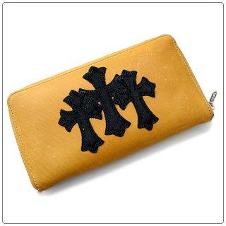 クロムハーツ 財布(Chrome Hearts)ウォレット REC F ZIP#2 3セメタリークロスパッチーズ ブラウン ブラック カウヘアー【クロム・ハーツ】【クロムハーツ財布】【名古屋】