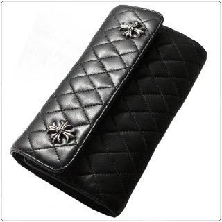 クロムハーツ 財布(Chrome Hearts)ウェーブ#4 ウォレット キルテッド 3スナップ CHプラスブラック ライトレザー【クロム・ハーツ】【クロムハーツ財布】【名古屋】