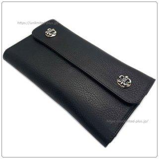 クロムハーツ 財布(Chrome Hearts)ウェーブ ウォレット BSフレアボタン ブラックヘビーレザー【クロム・ハーツ】【クロムハーツ財布】【名古屋】