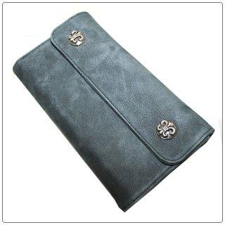 クロムハーツ 財布(Chrome Hearts)ウェーブ ウォレット BSフレアボタン グレースウェードレザー【クロム・ハーツ】【クロムハーツ財布】【名古屋】