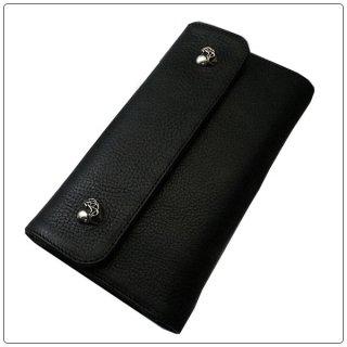 クロムハーツ 財布(Chrome Hearts)ウェーブ ウォレット ハートボタン ブラック ヘビーレザー【クロム・ハーツ】【クロムハーツ財布】【名古屋】