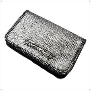クロムハーツ 財布(Chrome Hearts)カードケース#2 GRMT/スクロール シルバー/ブラック レザー ウォレット【クロム・ハーツ】【クロムハーツ財布】【名古屋】