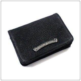 クロムハーツ 財布(Chrome Hearts)カードケース 3ポケット ブラックデストロイ ブラックロジウムコーティング スクロールラベル【クロム・ハーツ】【クロムハーツ財布】【名古屋】
