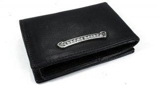 クロムハーツ 財布(Chrome Hearts)カードケース トリプルフォールドブラック ヘビーレザーウォレット【クロム・ハーツ】【クロムハーツ財布】【名古屋】