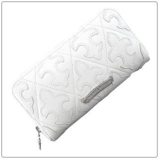 クロムハーツ 財布(Chrome Hearts)REC F ZIP#2 セメタリー フレア キルテッド ホワイト ウォレット【クロム・ハーツ】【クロムハーツ財布】【名古屋】
