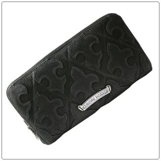 クロムハーツ 財布(Chrome Hearts)REC F ZIP#2 QLTセメタリーフレアブラック デストロイレザーウォレット【クロム・ハーツ】【クロムハーツ財布】【名古屋】