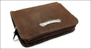 クロムハーツ 財布(Chrome Hearts)ジョーイ ライトブラウン デストロイレザーウォレット【クロム・ハーツ】【クロムハーツ財布】【名古屋】