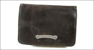 クロムハーツ 財布(Chrome Hearts)ジョーイ ダークブラウン デストロイレザーウォレット【クロム・ハーツ】【クロムハーツ財布】【名古屋】