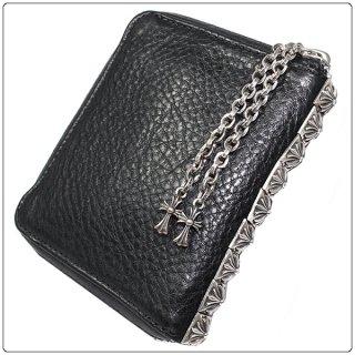 クロムハーツ 財布(Chrome Hearts)3サイドジップブラック ヘビーレザーウォレット【クロム・ハーツ】【クロムハーツ財布】【名古屋】