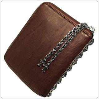 クロムハーツ 財布(Chrome Hearts)3サイドジップ ブラウン ミディアムレザーウォレット【クロム・ハーツ】【クロムハーツ財布】【名古屋】