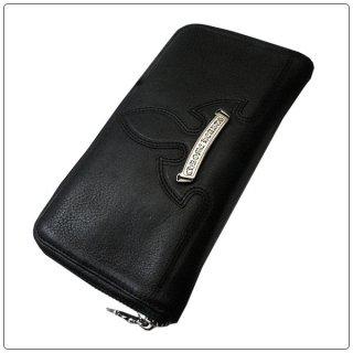 クロムハーツ 財布(Chrome Hearts)REC  F ZIP#3フレアニー ブラックヘビーレザーウォレット【クロム・ハーツ】【クロムハーツ財布】【名古屋】
