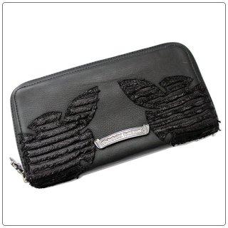 クロムハーツ 財布(Chrome Hearts)ウォレット REC F ZIP#3 ダブルフレアニー ブラックレザー ブラックスペシャルレザー【クロム・ハーツ】【クロムハーツ財布】【名古屋】