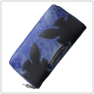 クロムハーツ 財布(Chrome Hearts)REC F ZIP#3エイリアンラブ エイジングブルー × グレー レザーウォレット【クロム・ハーツ】【クロムハーツ財布】【名古屋】