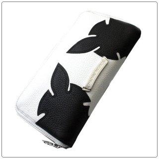クロムハーツ 財布(Chrome Hearts)REC F ZIP#3エイリアンラブ ホワイト × ブラック レザーウォレット【クロム・ハーツ】【クロムハーツ財布】【名古屋】