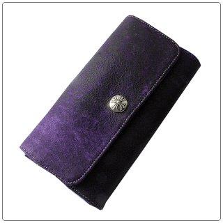 クロムハーツ 財布(Chrome Hearts)ジュディ ダークパープル ヴィンテージレザー【クロム・ハーツ】【クロムハーツ財布】【名古屋】