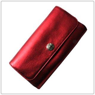クロムハーツ 財布(Chrome Hearts)ジュディ レッド メタリック レザー【クロム・ハーツ】【クロムハーツ財布】【名古屋】