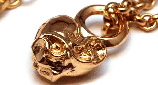クロムハーツ(Chrome Hearts)ペンダント スタック ハート チャーム#B 22Kゴールド (ネックレス)【クロム・ハーツ】【クロムハーツ財布】【名古屋】