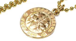 クロムハーツ(Chrome Hearts)ペンダント エンジェル メダル チャーム V1 22Kゴールド ファックユー (ネックレス)【クロム・ハーツ】【クロムハーツ財布】【名古屋】