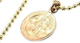 クロムハーツ(Chrome Hearts)ペンダント エンジェル メダル チャーム V2 22Kゴールド CHプラスズ (ネックレス)【クロム・ハーツ】【クロムハーツ財布】【名古屋】
