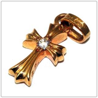 クロムハーツ(Chrome Hearts)ペンダント ベイビー ファット チャーム 22Kゴールド ダイアモンド ボスサイド  (ネックレス)【クロム・ハーツ】【クロムハーツ財布】【名古屋】
