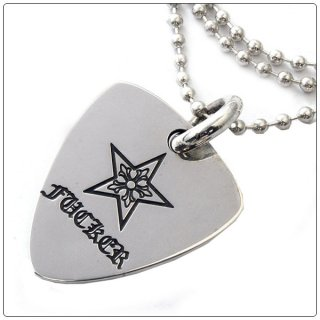 クロムハーツ(Chrome Hearts)ペンダント ギター ピック チャーム スター ファッカー  (ネックレス)(クロム・ハーツ)