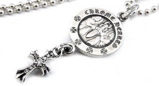 クロムハーツ(Chrome Hearts)ペンダント ベイビー ファット エンジェル メダル チャームV2 パヴェ ダイアモンド (ネックレス)【クロム・ハーツ】【クロムハーツ財布】【名古屋】