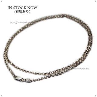 クロムハーツ(Chrome Hearts)ネックレス チェーン ロールチェーン 18インチ(約45cm) (ネックレス)(クロム・ハーツ)
