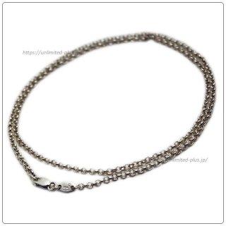 クロムハーツ(Chrome Hearts)ネックレス チェーン ロールチェーン 24インチ(約60cm) (ネックレス)(クロム・ハーツ)