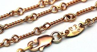 クロムハーツ(Chrome Hearts)ネックレス チェーン 22Kゴールド ツイスト 18インチ(約45cm) (ネックレス)(クロム・ハーツ)