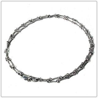 クロムハーツ(Chrome Hearts)ネックレス チェーン 18Kホワイトゴールド ツイスト 18インチ(約45cm) (ネックレス)(クロム・ハーツ)
