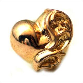 クロムハーツ(Chrome Hearts)ピアス ハート スタッド K22ゴールド 【クロム・ハーツ】【クロムハーツ財布】【名古屋】