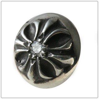 クロムハーツ(Chrome Hearts)ピアス クロスボール ウィズ ダイヤモンド 【クロム・ハーツ】【クロムハーツ財布】【名古屋】