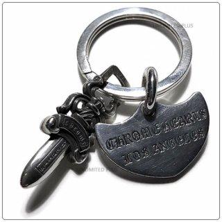 クロムハーツ(Chrome Hearts)キーリング シールドLA ウィズ スプリット #5ダガー (クロム・ハーツ)