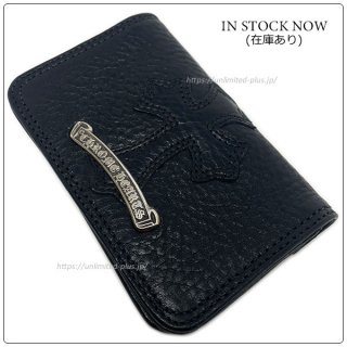 クロムハーツ 財布(Chrome Hearts)カードケース#2 GRMT/スクロール セメタリーレザーパッチ ブラックヘビーレザー ウォレット【クロム・ハーツ】【クロムハーツ財布】【名古屋】