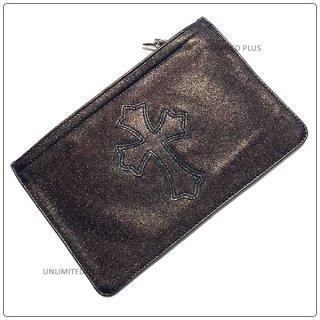 クロムハーツ 財布(Chrome Hearts)ウォレット ジッパーチェンジパース #2 メタリックブロンズ レザー セメタリーパッチ (財布)