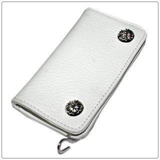 クロムハーツ 財布(Chrome Hearts)スモール シングルフォールド ホワイト ヘビーレザーウォレット 【クロム・ハーツ】【クロムハーツ財布】【名古屋】