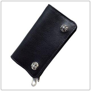 クロムハーツ 財布(Chrome Hearts)スモール シングルフォールド ブラック ヘビーレザー ウォレット 【クロム・ハーツ】【クロムハーツ財布】【名古屋】