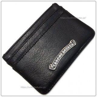 クロムハーツ 財布(Chrome Hearts)カードケース ダブルサイドブラック ヘビーレザーウォレット ウィズ スクロールラベル 【クロム・ハーツ】【クロムハーツ財布】【名古屋】