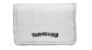 クロムハーツ 財布(Chrome Hearts)カードケース#2 グロメット/スクロール ホワイト ヘビーレザーウォレット【クロム・ハーツ】【クロムハーツ財布】【名古屋】